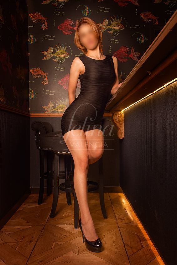 Bea: Moldovan VIP escort for PSE in Valencia, wearing a black dress